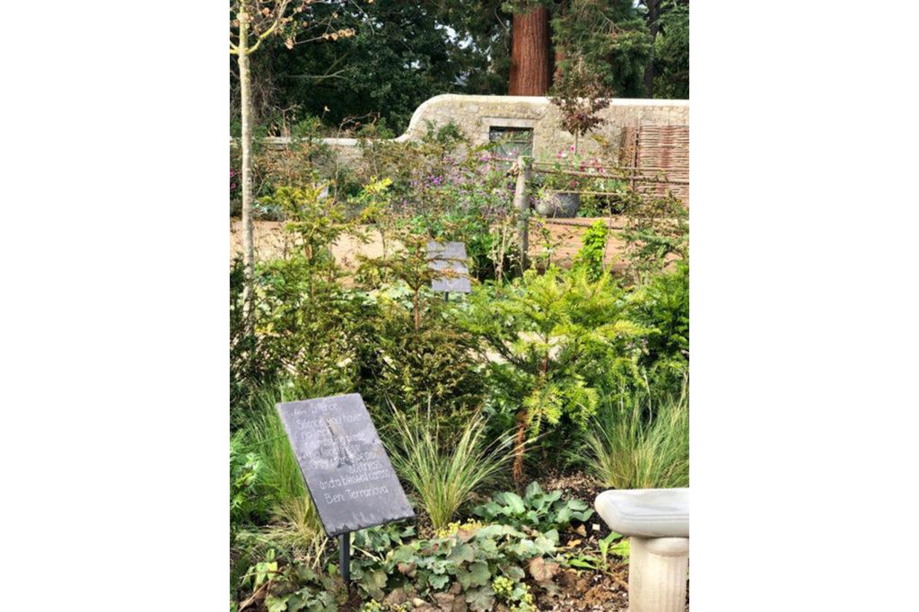 Blackthorn Trust Healing Garden Quote