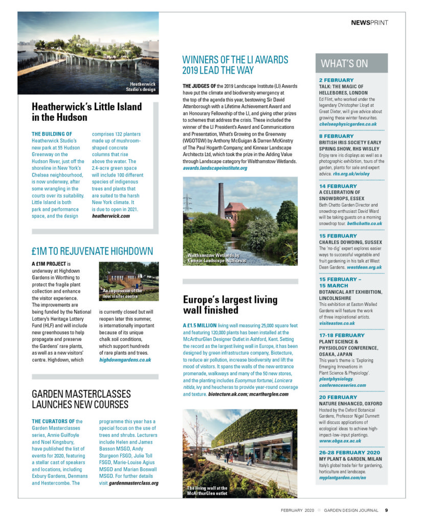 Garden Design Journal February 2020 Article