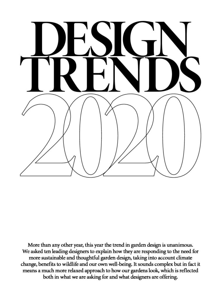 Gardens Illustrated Design Trends 2020