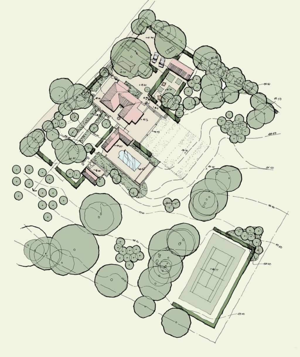 Landscape Concept Masterplan by Marian Boswall