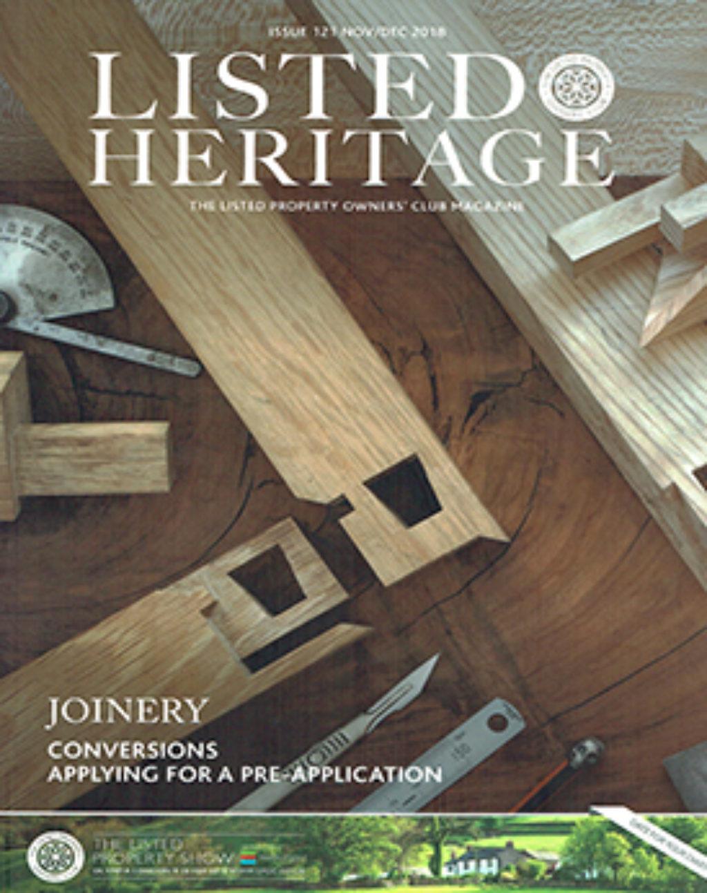 Listed Heritage November December 2018