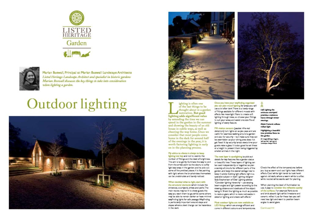 Listed Heritage Outdoor Lighting October2019