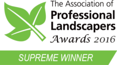 The Professional Landscapers Awards 2016 Supreme Winner