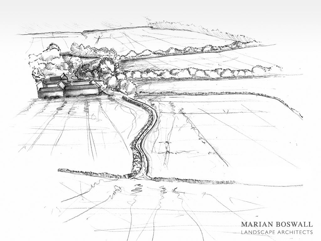 Marian Boswall Charleston Firle Perspective