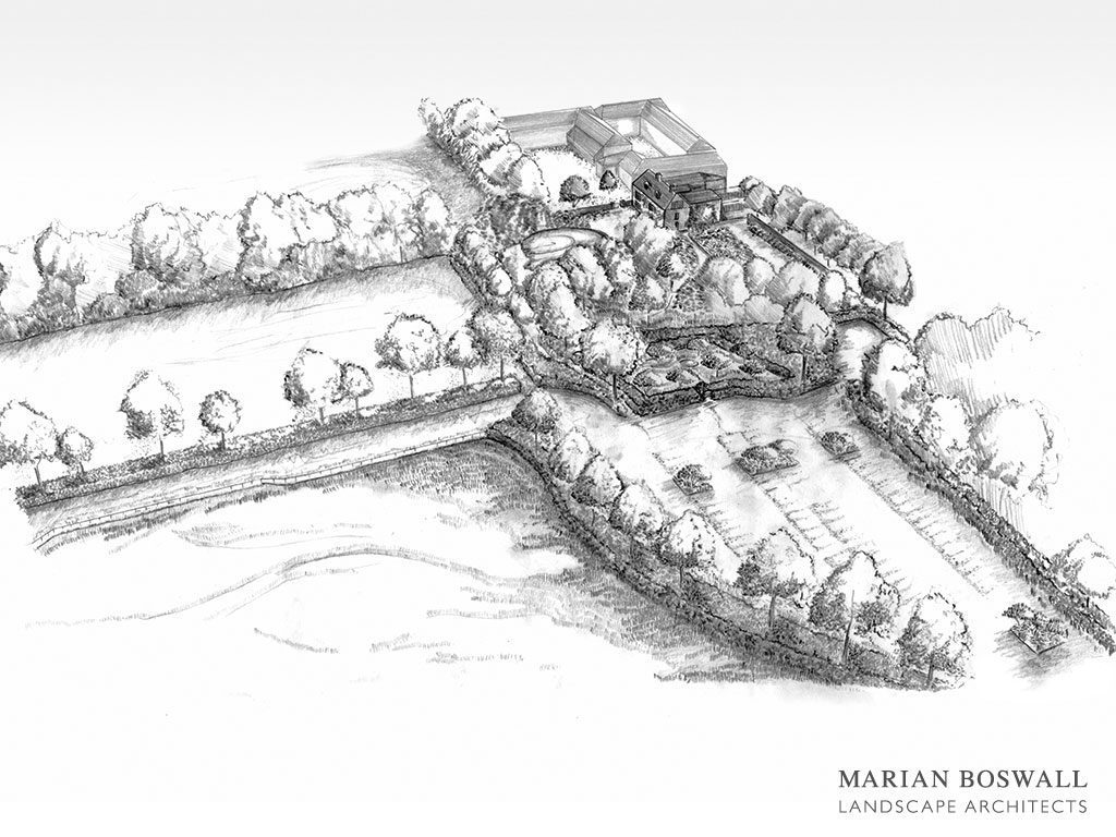 Marian Boswall Charleston Perspective Drawing