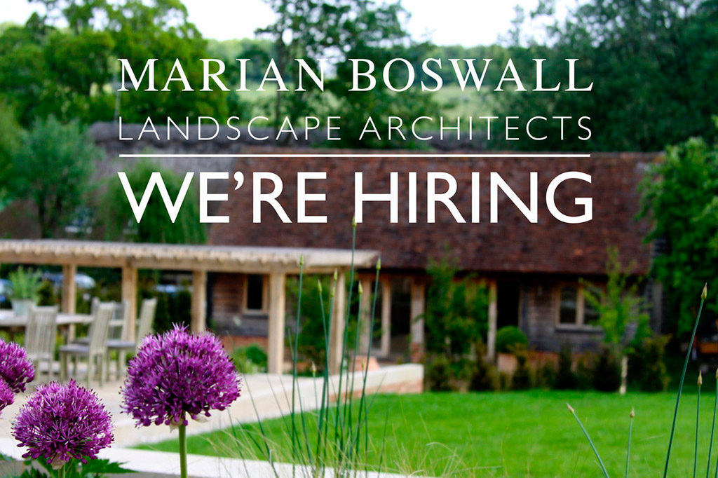 Marian Boswall Landscape Architects are hiring