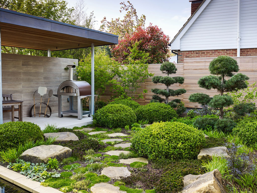 Contemporary Courtyard Planting