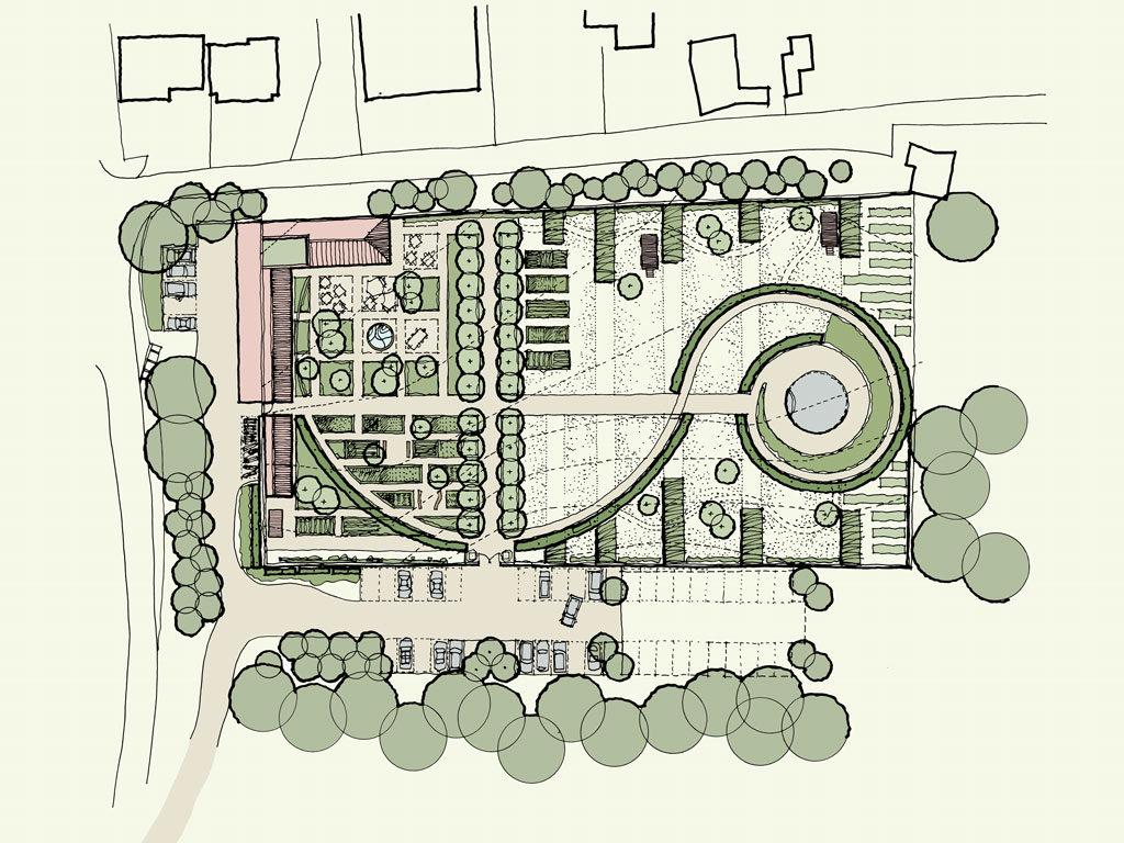 Map Walled Garden Retreat