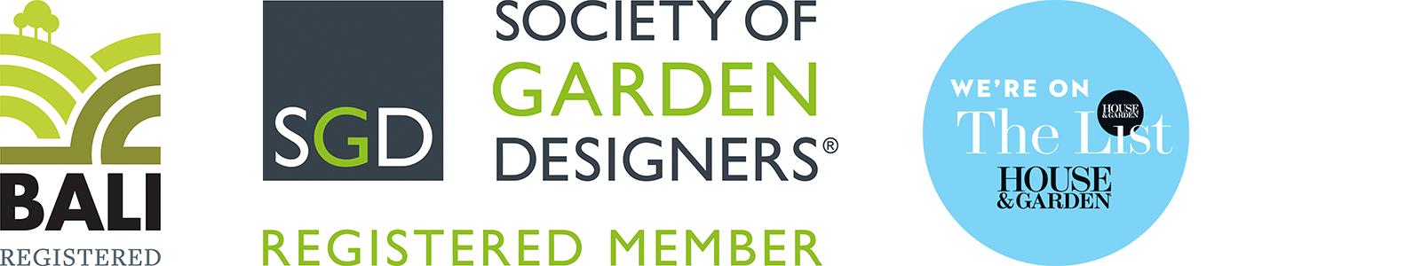 Bali, Society of Garden Designers and House and Garden logos