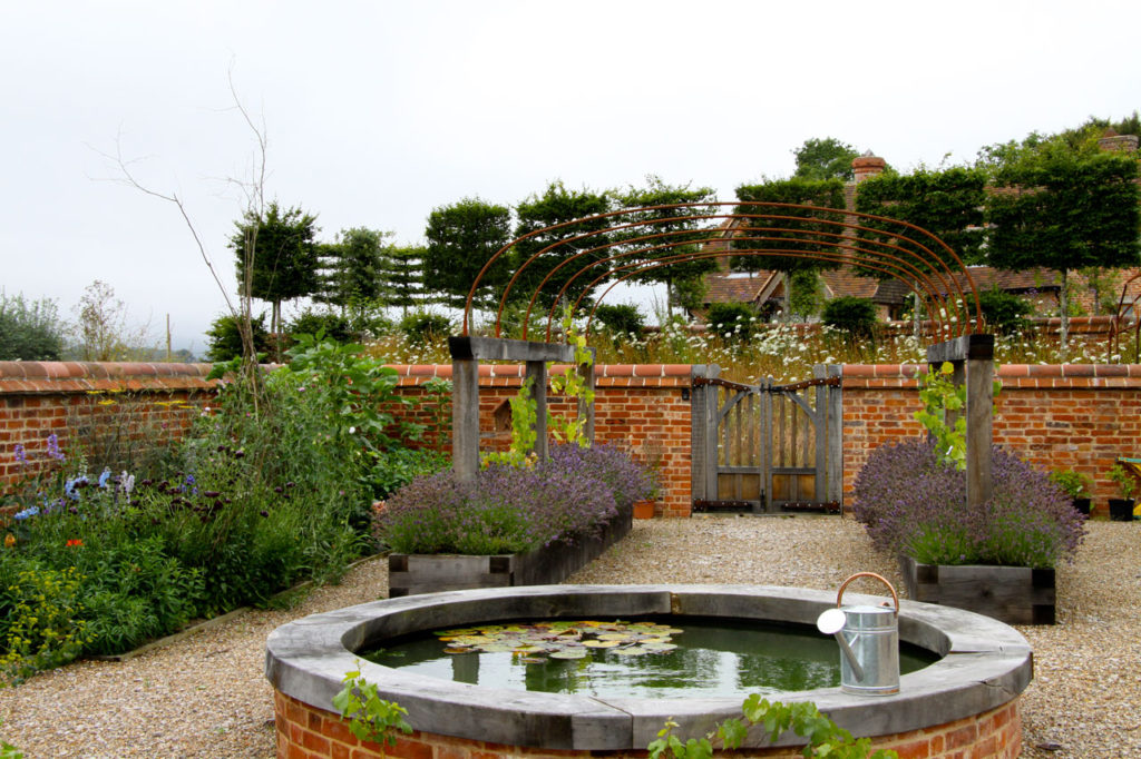 Raised Pond Walled Garden