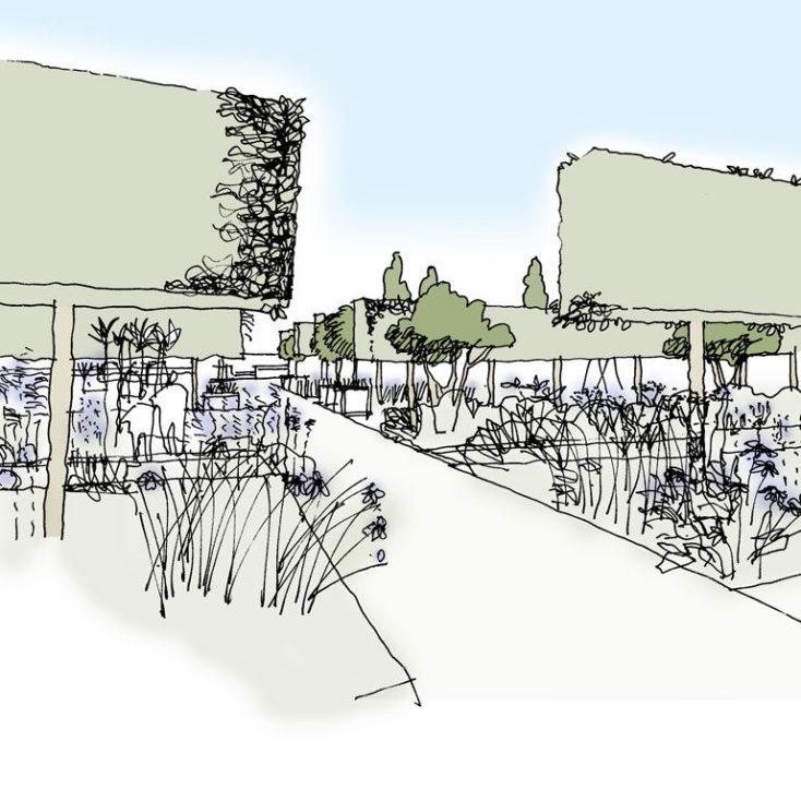 Sketch Walled Garden