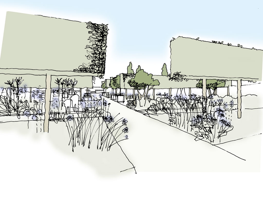 Sketch Walled Garden